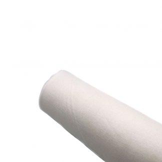 Entretela de algodón blanca adhesiva por una cara