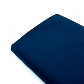 Tela popelín liso suave en color azul marino