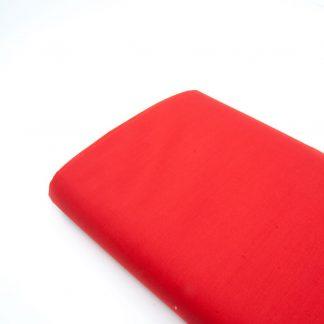 Tela popelín liso suave en color rojo
