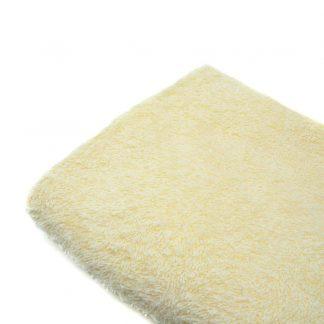 Tela de rizo de toalla en color amarillo