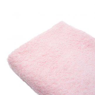 Tela de rizo de toalla en color rosa