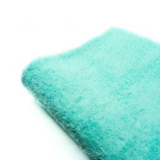 Tela de rizo de toalla en color verde agua