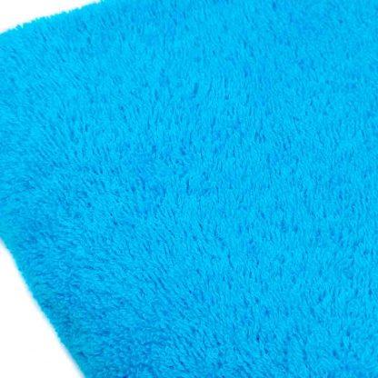 Tela de rizo de toalla algodón 100% en color azul turquesa