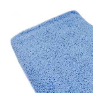 Tela de rizo de toalla algodón 100% en color azul empolvado