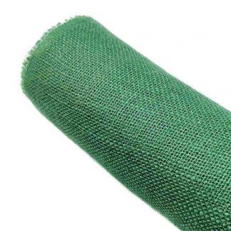 Tela de arpillera en color verde botella