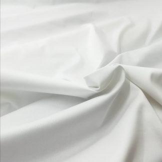 Tela satén de algodón en color blanco
