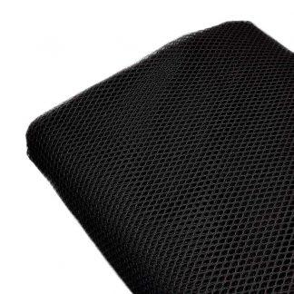 Tela de malla negra, también conocida como tela mesh o de rejilla