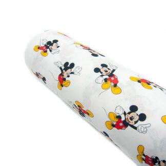 Tela popelín Mickey Mouse en algodón orgánico certificado GOTS