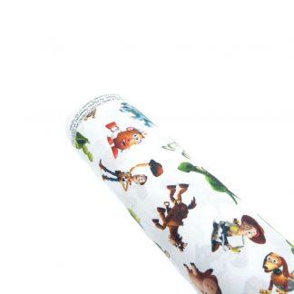 Tela popelín Toy Story en algodón orgánico certificado GOTS