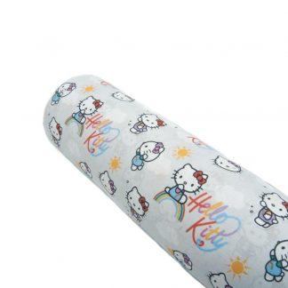 Tela popelín Hello Kitty en algodón orgánico certificado GOTS