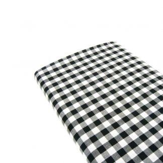 Tela cuadro vichy 100% algodón en color negro