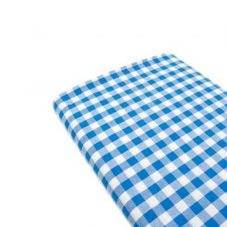 Tela cuadro vichy 100% algodón en color azulón