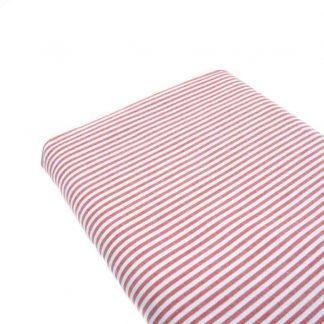Tela raya vichy 100% algodón en color rojo