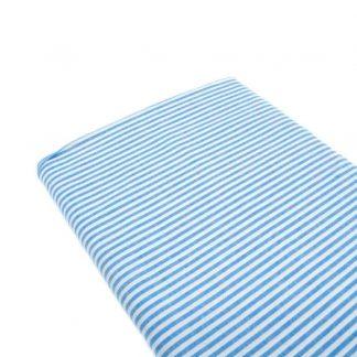Tela raya vichy 100% algodón en color azul francia