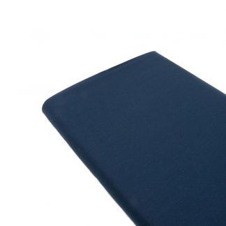 Tela de popelín 100% algodón en color liso azul marino