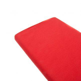 Tela de popelín 100% algodón en color liso rojo