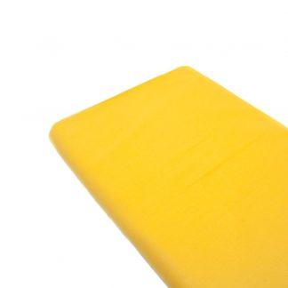 Tela de popelín 100% algodón en color liso amarillo