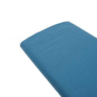 Tela de popelín 100% algodón en color azul francia