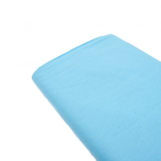 Tela de popelín 100% algodón en color liso turquesa claro