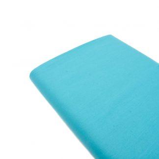 Tela de popelín 100% algodón en color liso turquesa oscuro