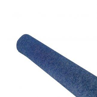 Tela denim lisa en algodón color azul oscuro