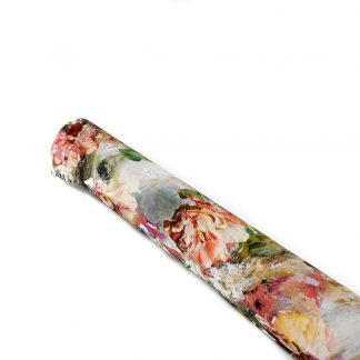Tela de viscosa con flores de colores
