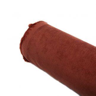 Tela micro pana elástica en color teja