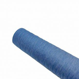 Tela vaquera chambray de algodón en color azul medio