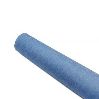 Tela vaquera chambray de algodón en color azul claro