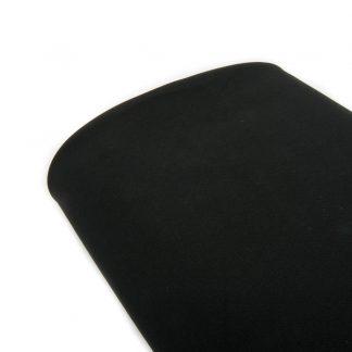 Tela bielástico en color liso negro