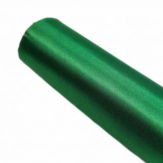 Tela de raso en color liso verde botella