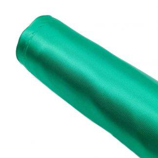 Tela de raso en color liso verde billar