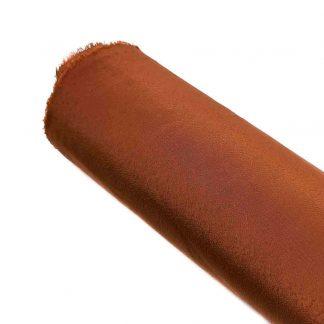 Tela de crespón en color liso marrón