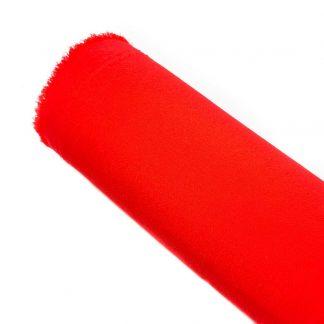 Tela de crespón en color liso rojo