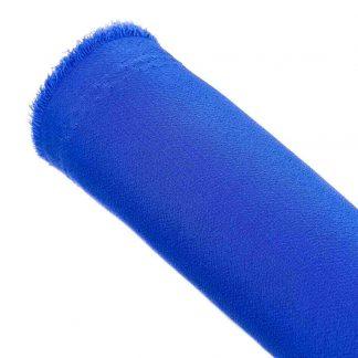 Tela de crespón en color liso azul eléctrico