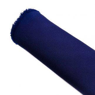 Tela de crespón en color liso azul marino
