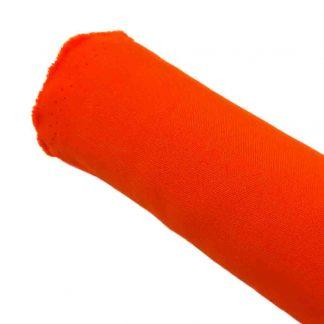 Tela strech en color liso naranja