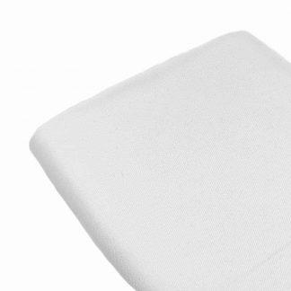 Tela de sarga lisa en color blanco