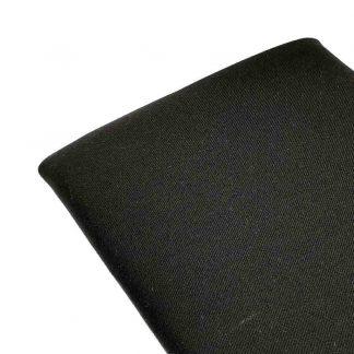 Tela de sarga lisa en color negro