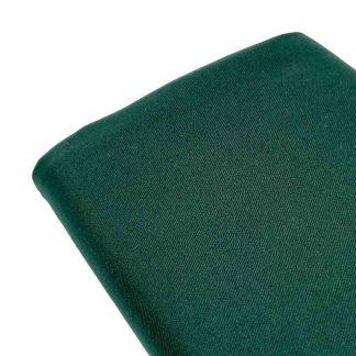 Tela de sarga lisa en color verde botella
