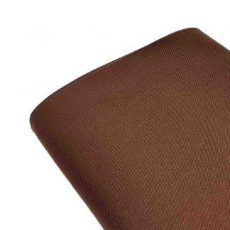 Tela de sarga lisa en color marrón carmelita