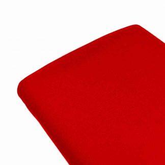 Tela de sarga lisa en color rojo