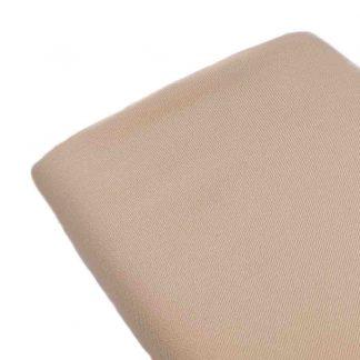 Tela de sarga lisa en color beige