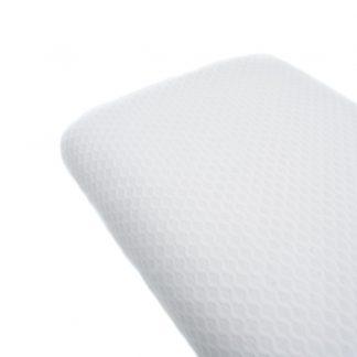 Tela de piqué de nido de abeja tamaño grande en color blanco