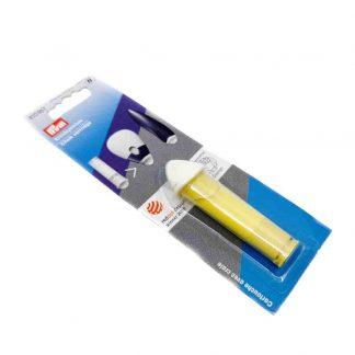 Cartucho de tiza amarilla marca Prym de repuesto para ruleta de marcar patrones