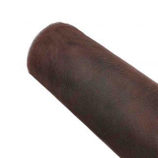 Tela de tul liso en color marrón chocolate
