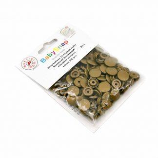 Pack de 30 botones snaps de plástico con forma circular en color cobre