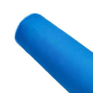 Tela de popelín azul ducados especial para coser prendas y complementos con cuerpo, vestidos de flamenca, hogar