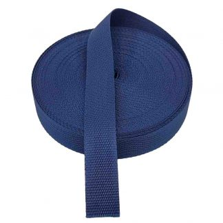 Cinta de mochila de 30 mm de ancho en color azul marino