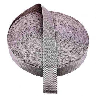 Cinta de mochila de 30 mm de ancho en color gris
